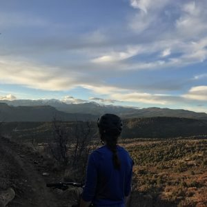 Mountain biking in the Grandview Trail System near Durango, CO