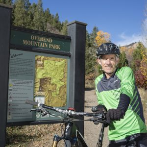 Mountain biking in Overend Mountain Park in Durango, CO