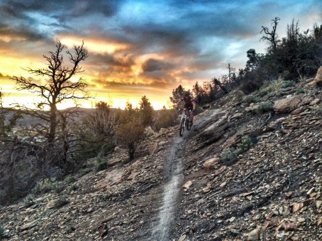 Mountain biking on Carbon Junction Trail.