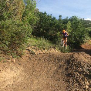 Mountain biking on the Chapman Flow Trail