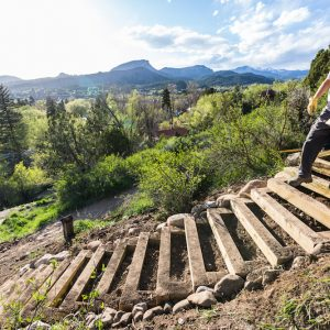 Walking the Sky Steps in Durango, Colorado