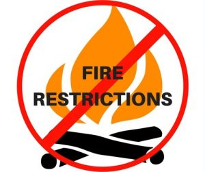 Stage I Fire Restrictions Now in Place